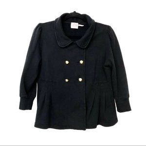 ❤️ Juicy couture Black Cropped Pea Coat!